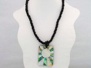 Handmade-Mexican-Abalone-shell-shakira-beads-Necklace-Pendant-001