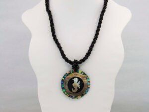 Handmade-Mexican-Abalone-shell-shakira-beads-Necklace-pendant-002