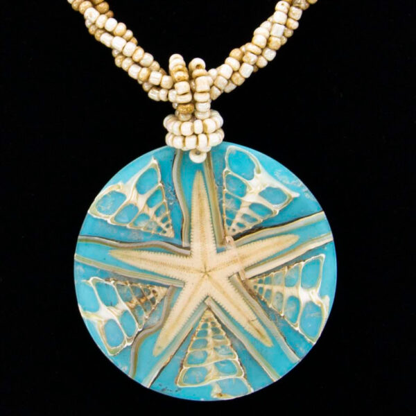 Handmade-Mexican-Starfish-shell-shakira-beads-Necklace-009-detail