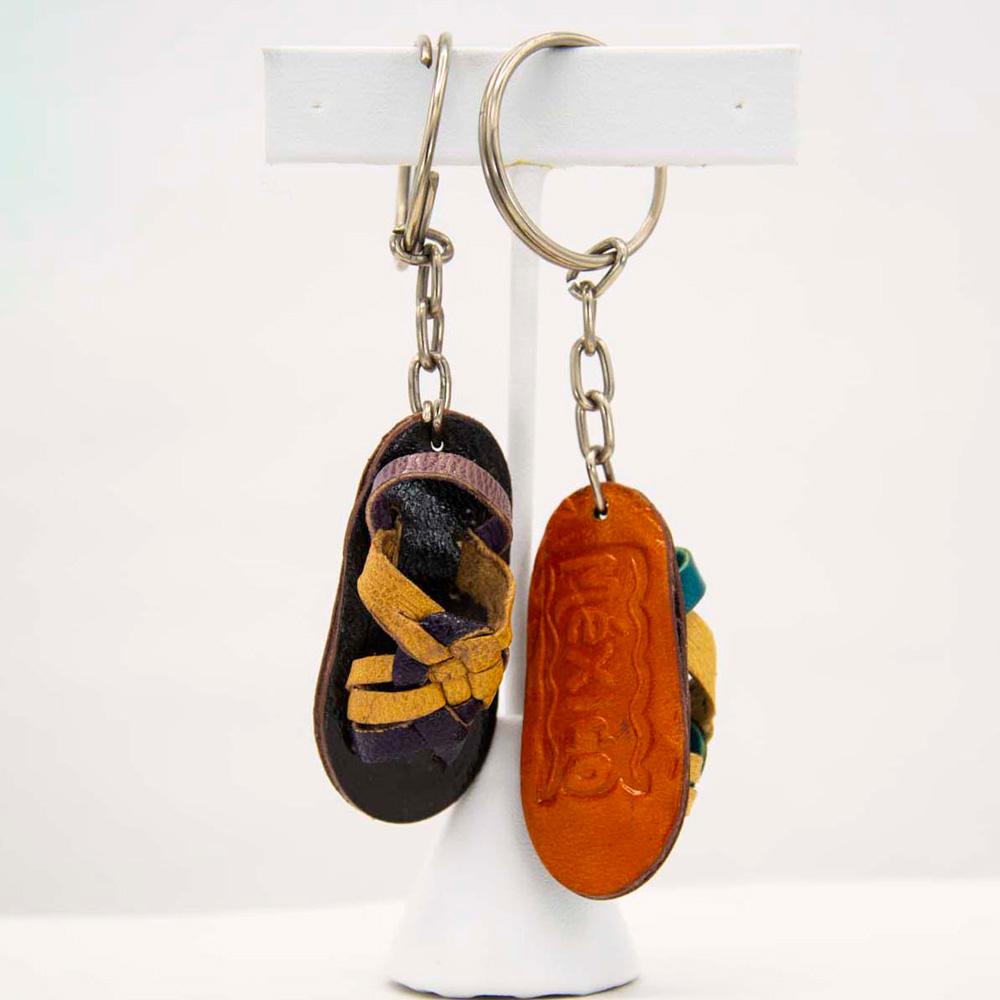 Keychain key holder hand painted keychain Mexican keychain