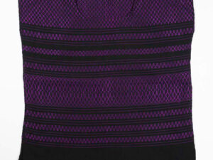 Traditional Handwoven Mexican purple huipil blouse front view-050