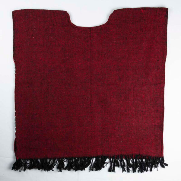 traditional-handwoven -red-mexican-huipil-blouses back view