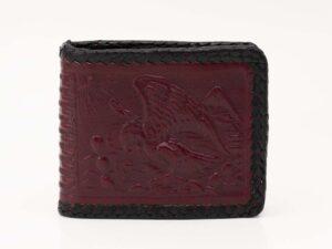 handmade-handtooled-mexican-laced-wallets-aztec-calendar-eagle-076