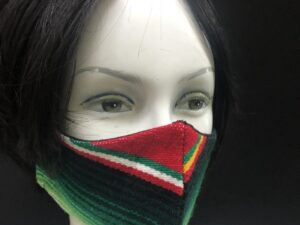 Maniqui with handmade Mexican Sarape Face Mask-01