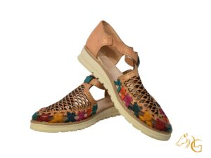 Handmade Traditional Mexican Women Leather Shoes Huaraches -001
