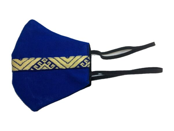 Hand made embroidered cotton Blue Face mask 5B33AE5C