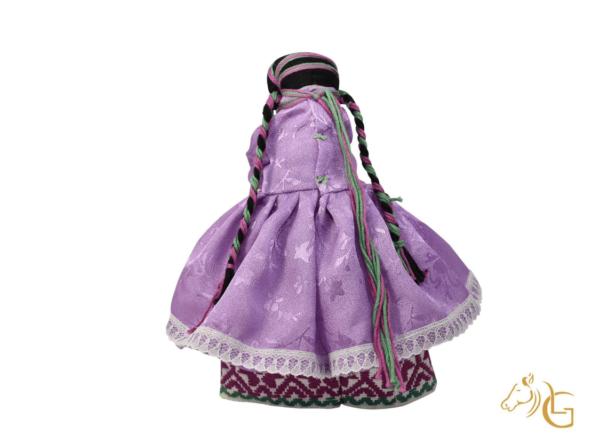 handmade mexican indita peasant rag doll back side view